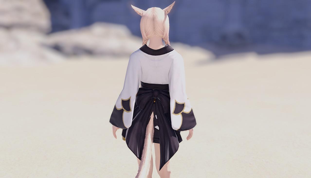 墨染姫君浴衣背面