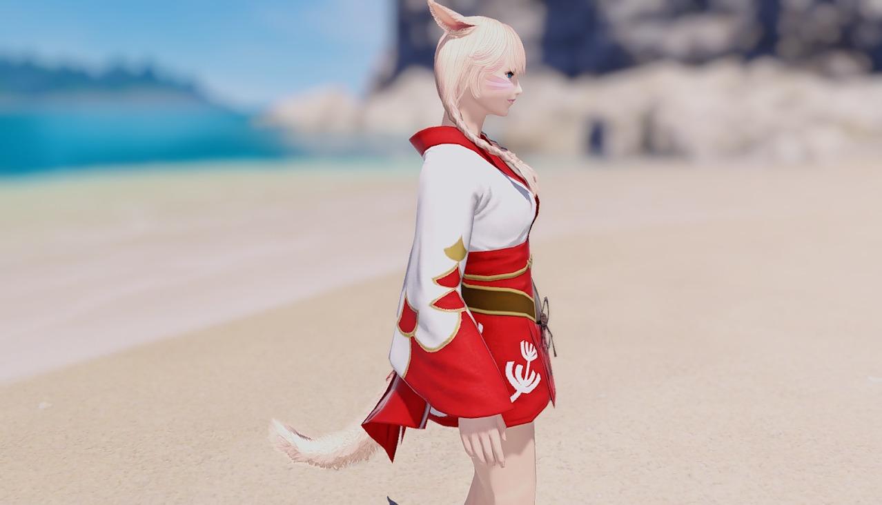 紅染姫君浴衣サイド