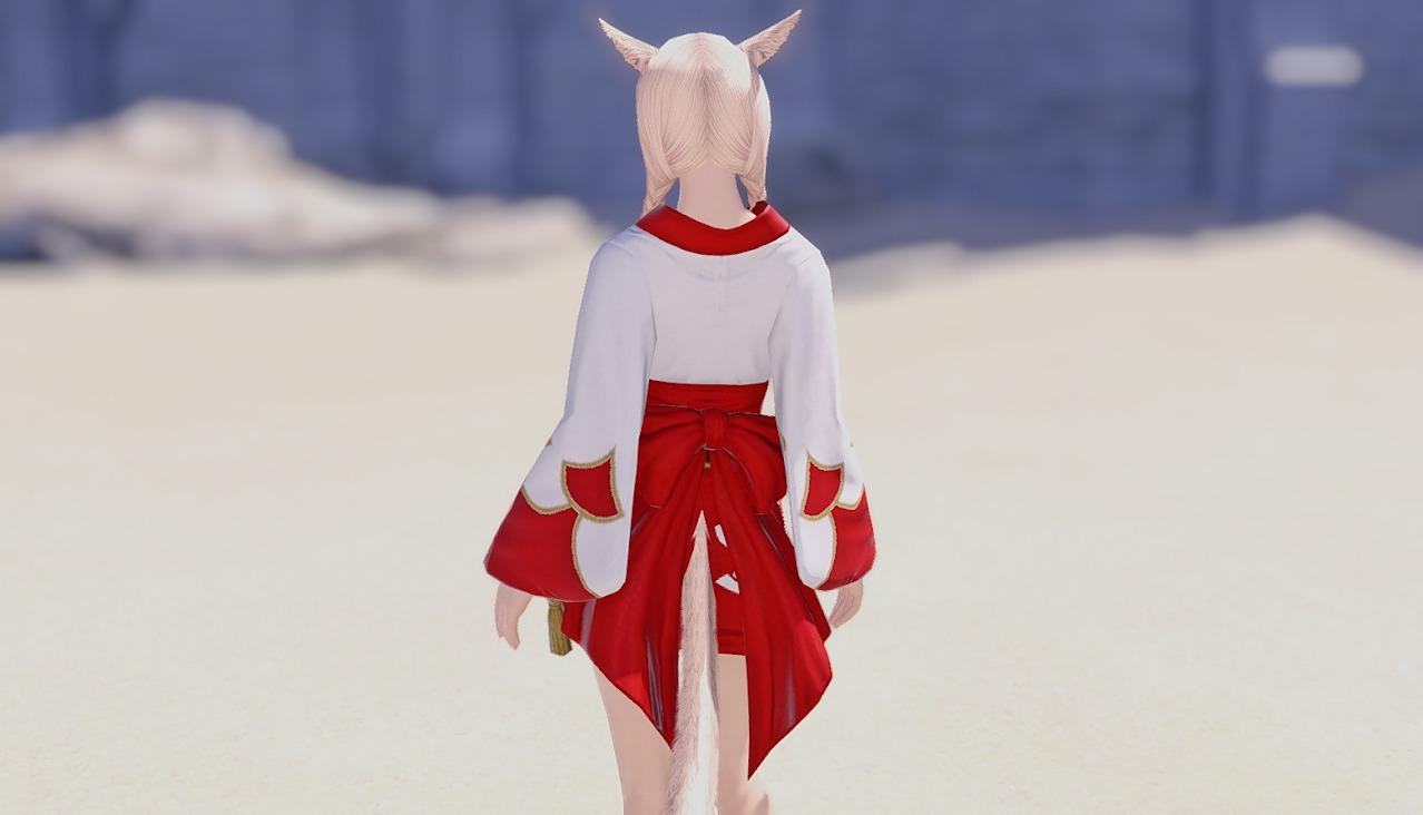 紅染姫君浴衣背面