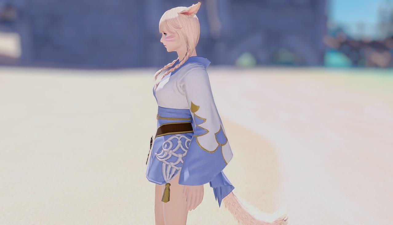 藍染姫君浴衣サイド
