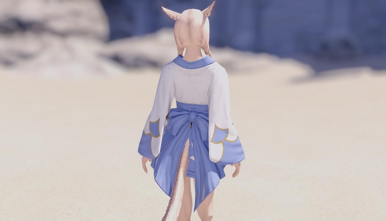 藍染姫君浴衣背面