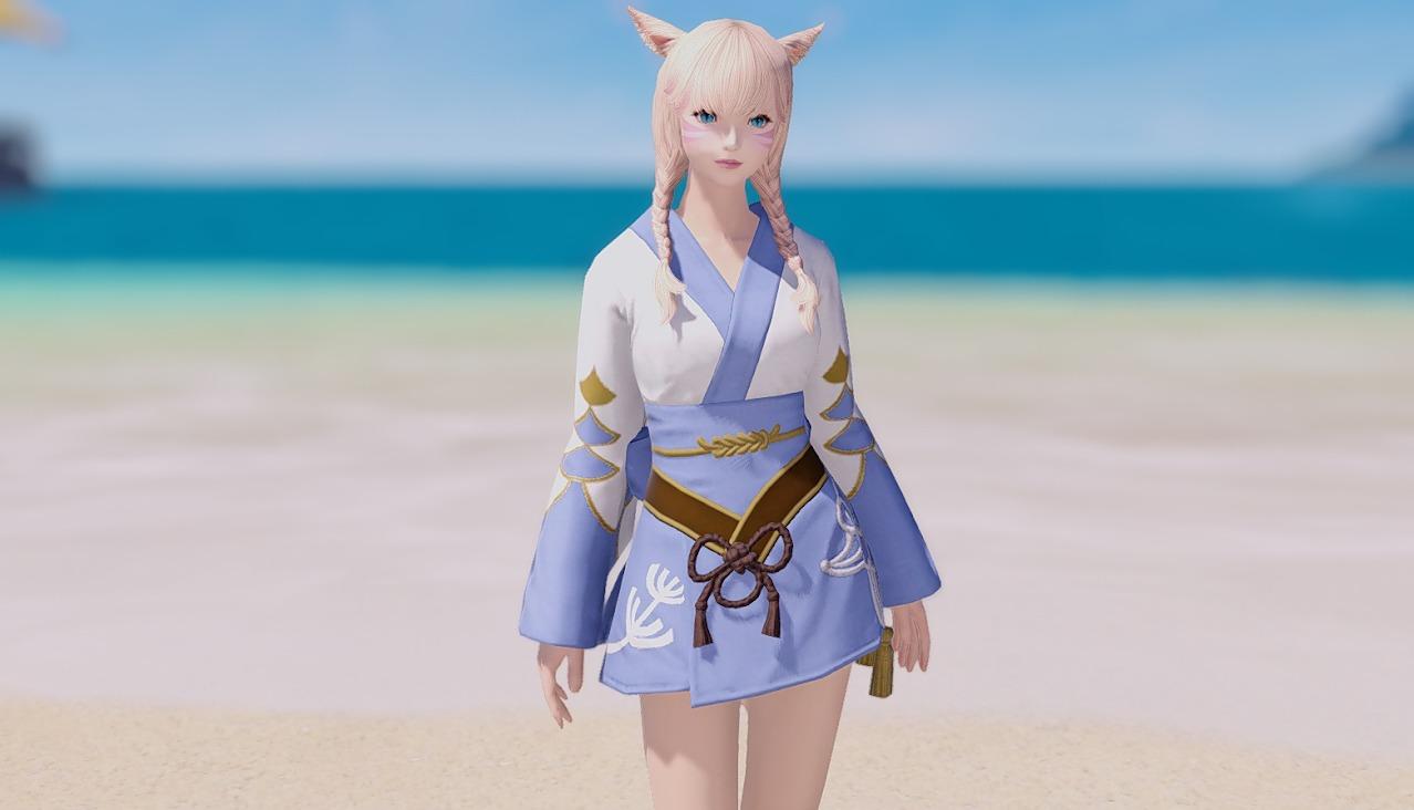 藍染姫君浴衣