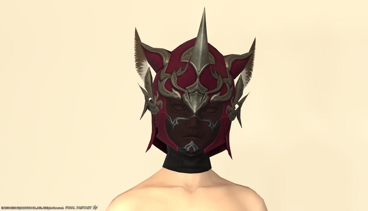 オシュオンレンジャー装備頭ロランベリーレッドマスクあり