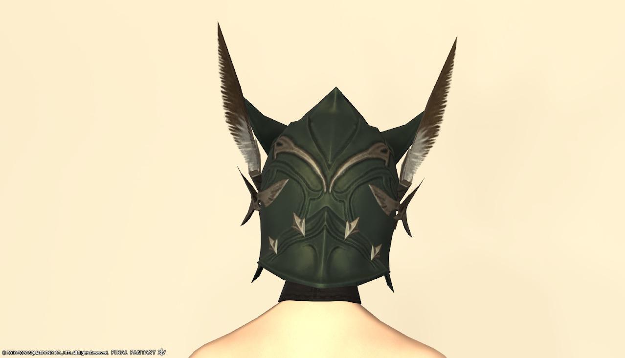 オシュオンレンジャー装備頭背面