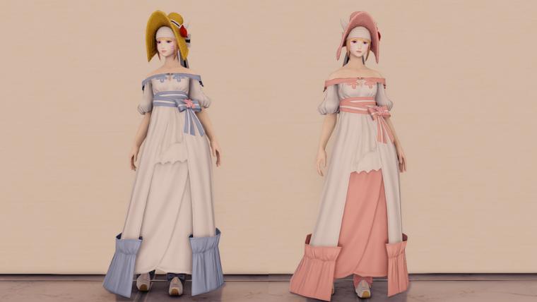 スプリングドレスシリーズカラー対比