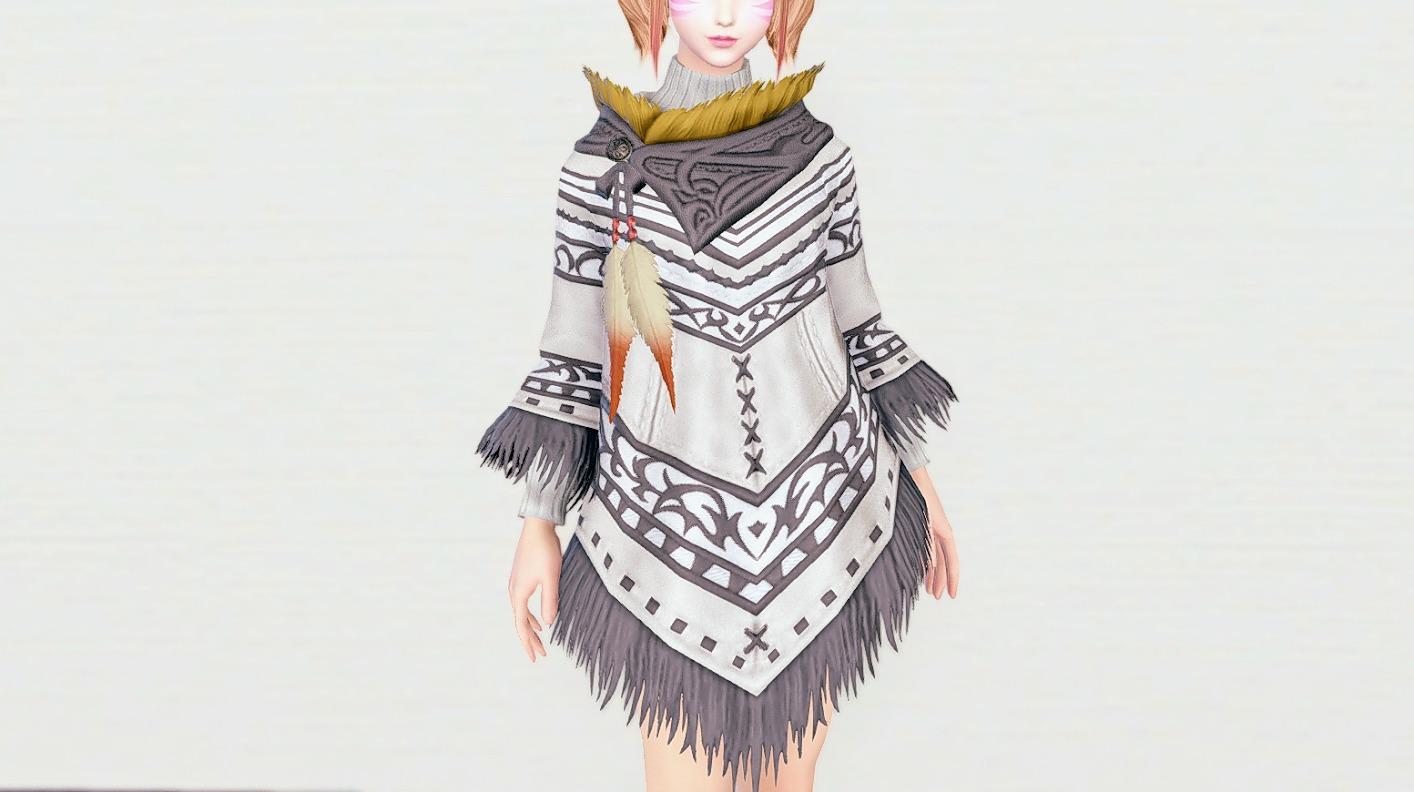 カシミヤポンチョスノウホワイト