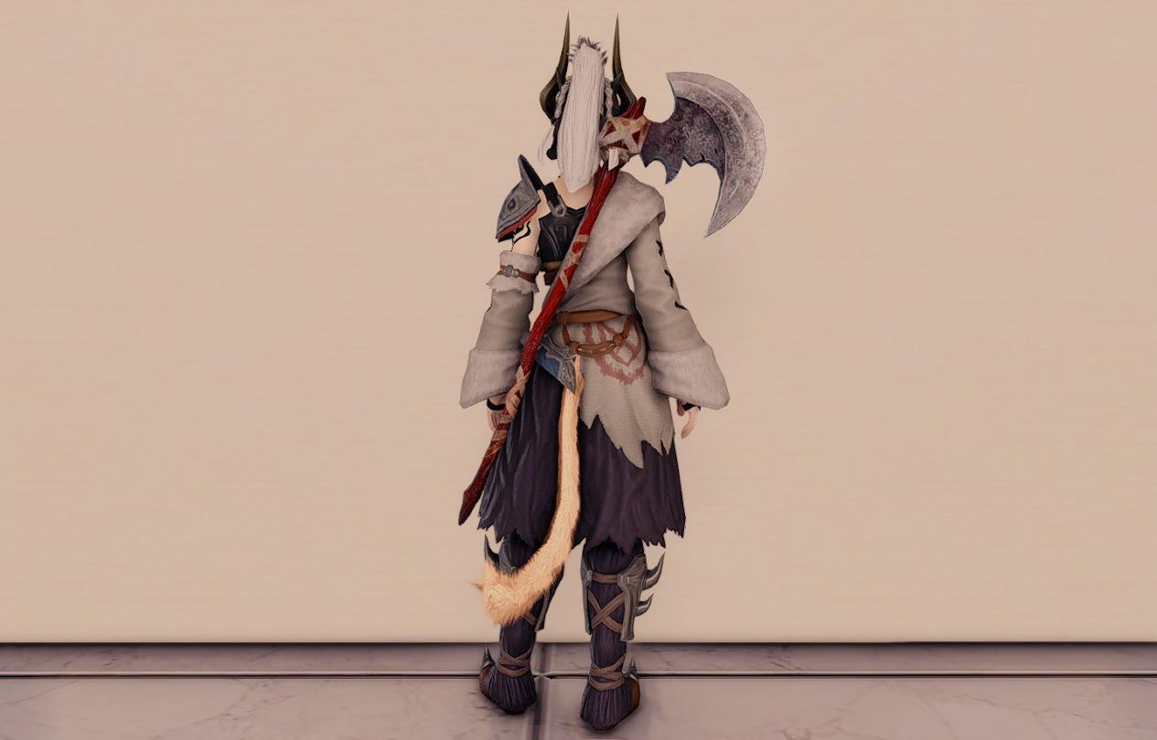 ソームアル戦士武器ウォードレイダー合わせ納刀