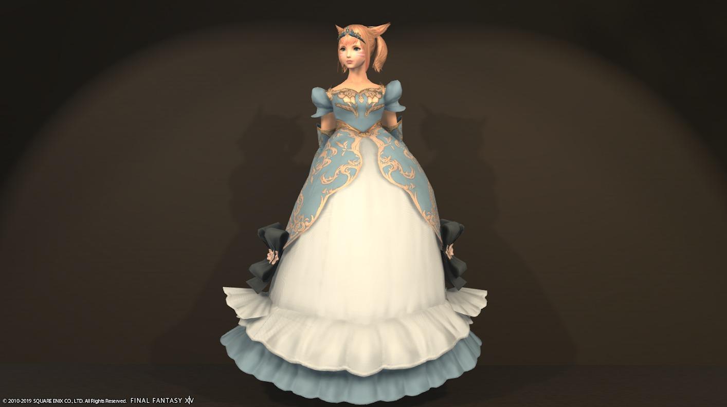 プリンセスアタイア全身スカイブルー