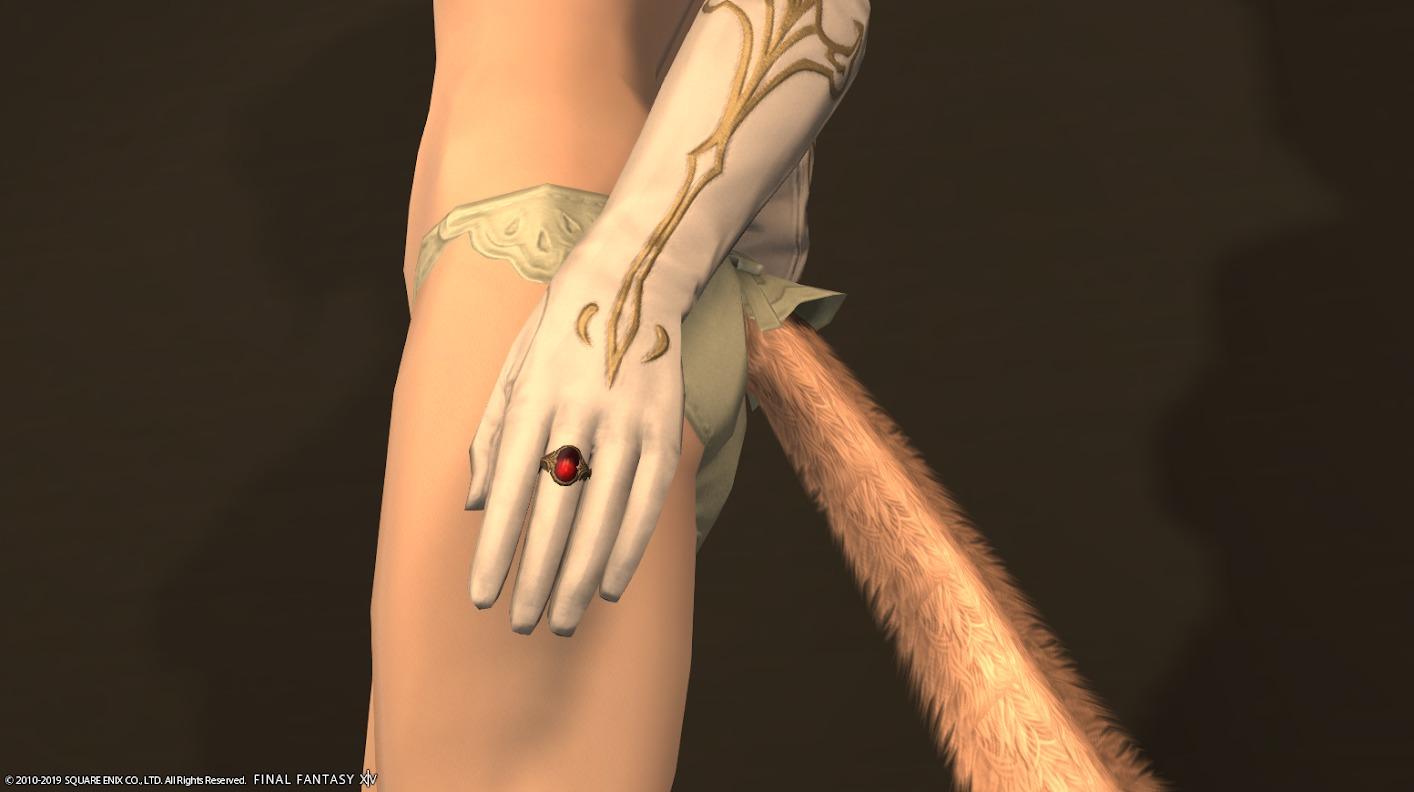 プリンセスアタイア手デフォルト指輪
