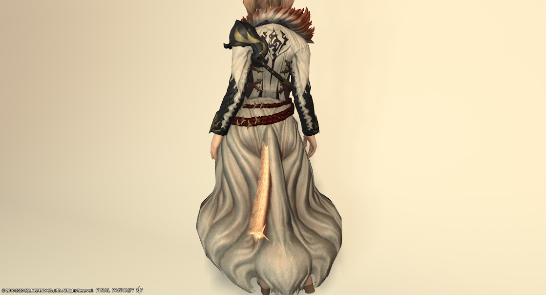 白狐装備胴背面