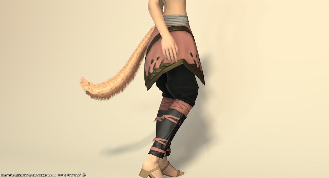 白狐装備脚ローズピンクサイド