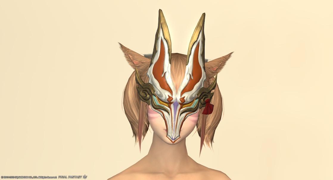 白狐装備頭