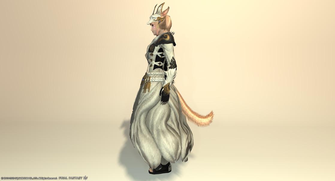 黒狐装備全身スノウホワイトサイド