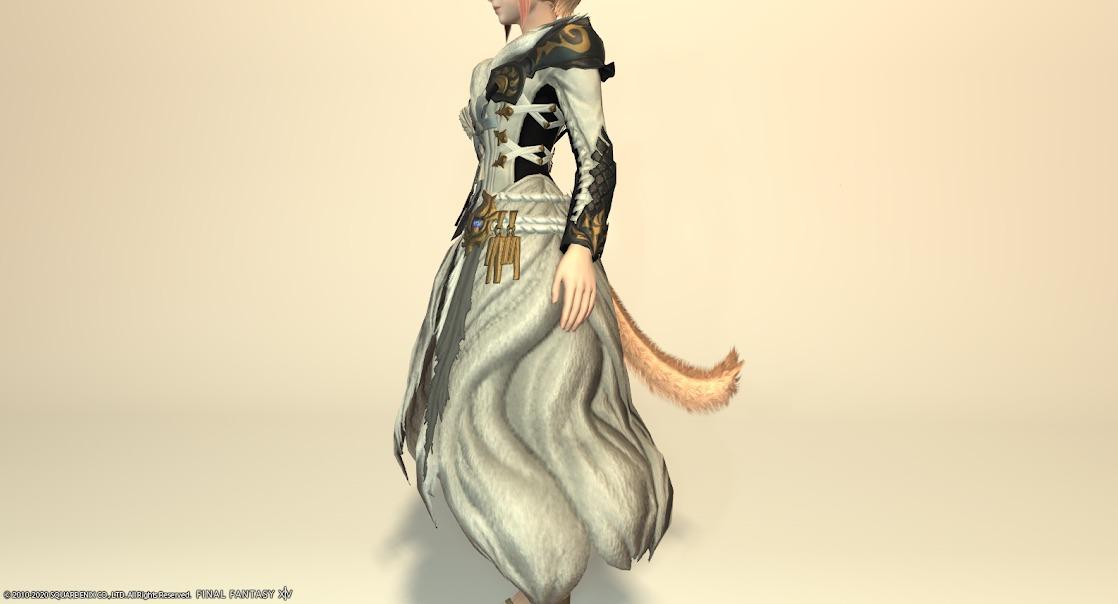 黒狐装備胴スノウホワイトサイド