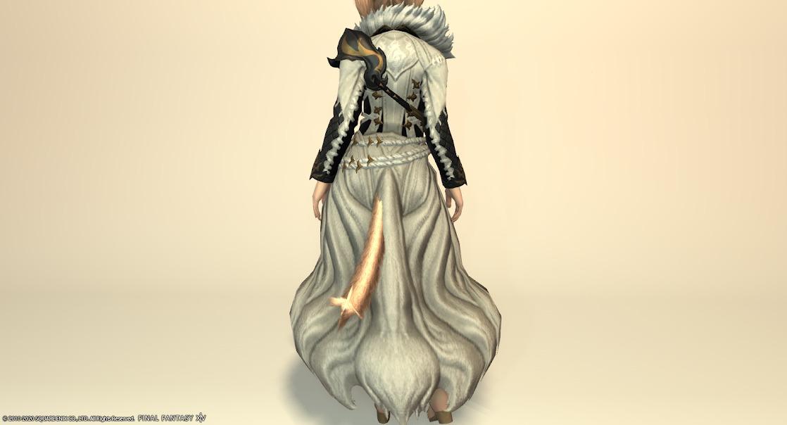 黒狐装備胴スノウホワイト背面