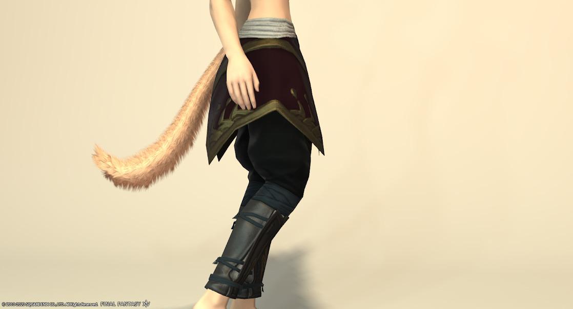 黒狐装備脚サイド