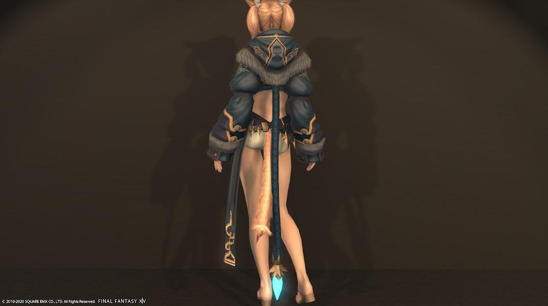 ナタ姫君胴ロータノブルー背面