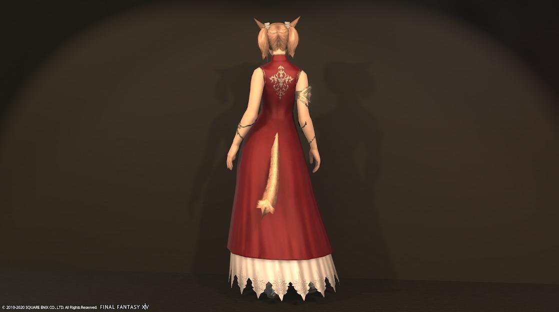 東方姫君全身デフォルト背面
