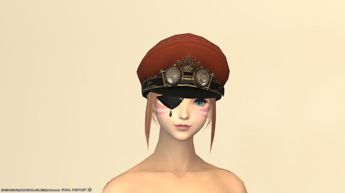 タンク新式頭ブラッドレッド眼帯あり