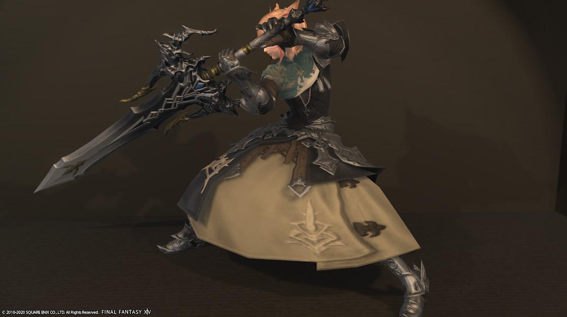 ドラゴンズエアリータンク装備暗黒騎士武器合わせ抜刀