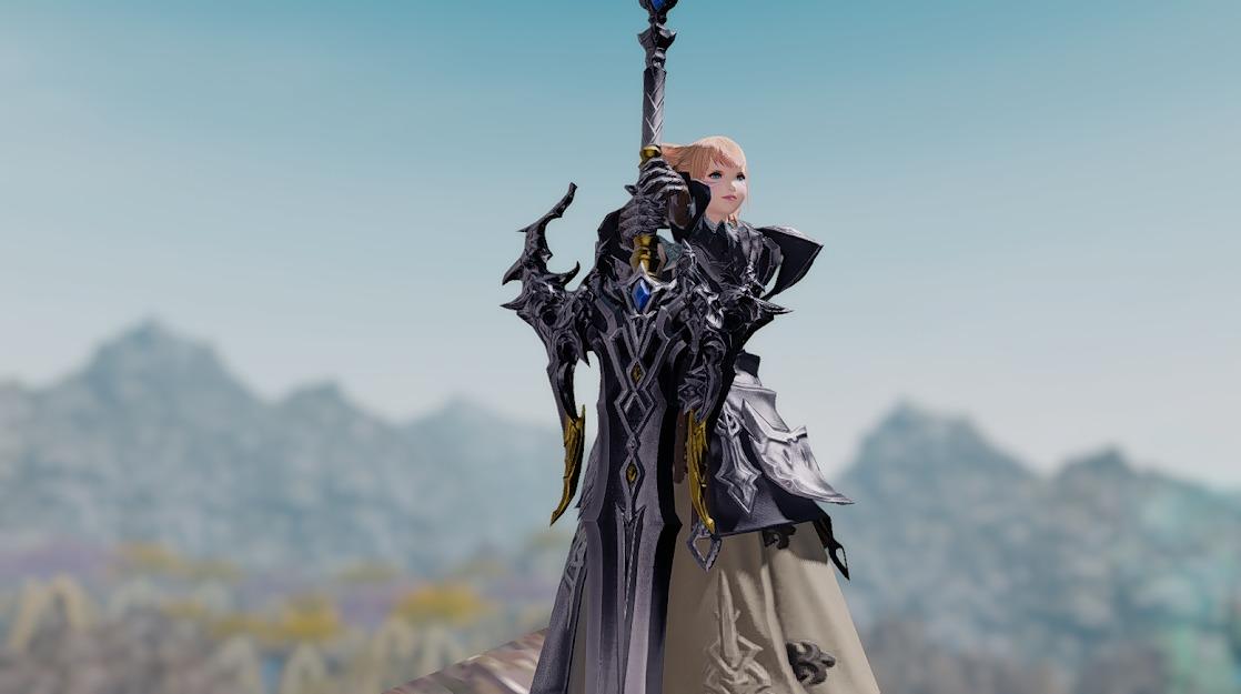 ドラゴンズエアリータンク装備暗黒騎士武器合わせ