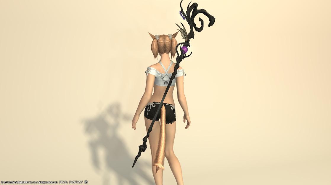 ファーストヤシュトラ衣装武器背面