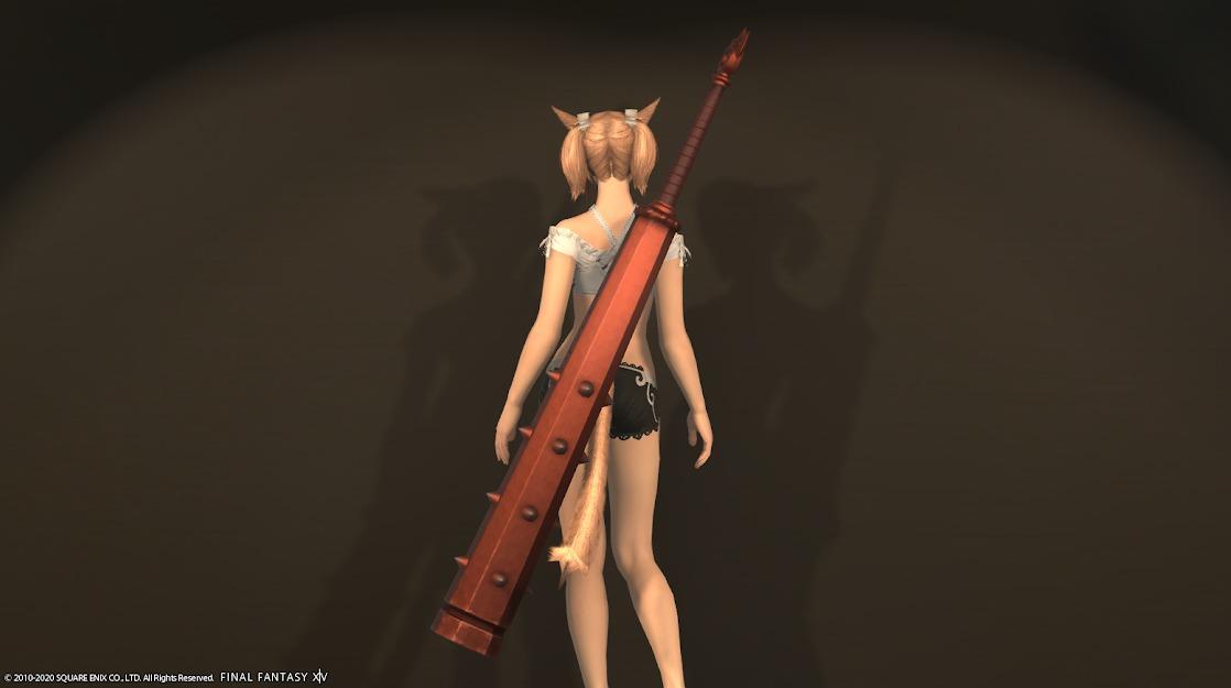 赤鬼暗黒騎士武器ブラッドレッド納刀