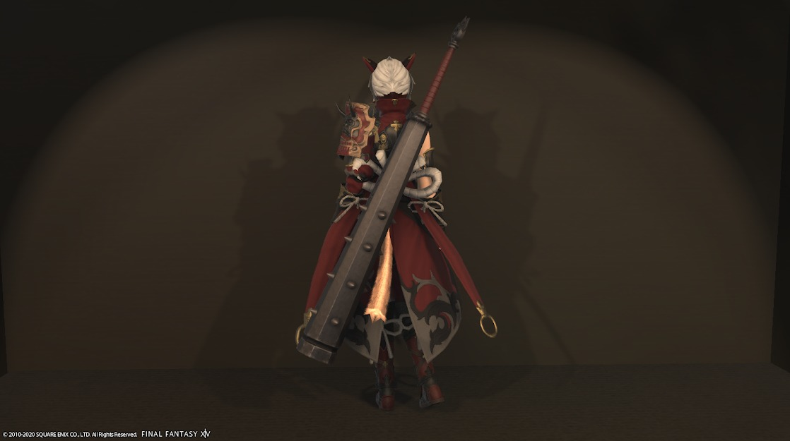 赤鬼装備暗黒騎士武器合わせ背面
