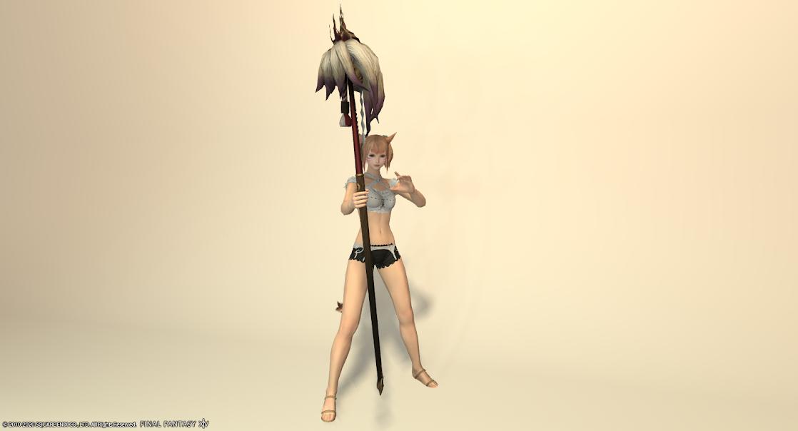 白狐装備白武器抜刀