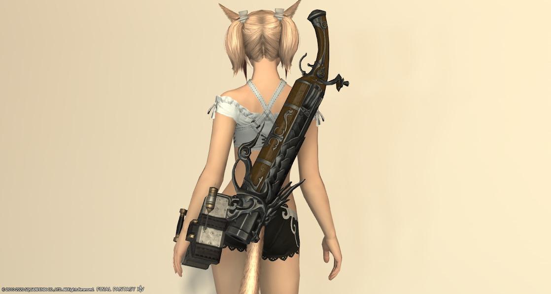 鵺装備機工士武器納刀