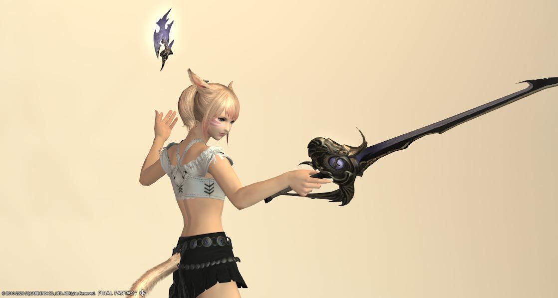 黒狐赤武器ラベンダーブルー抜刀