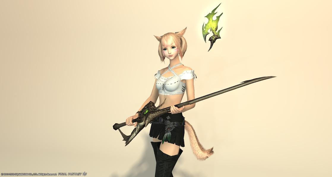 黒狐赤武器抜刀正面