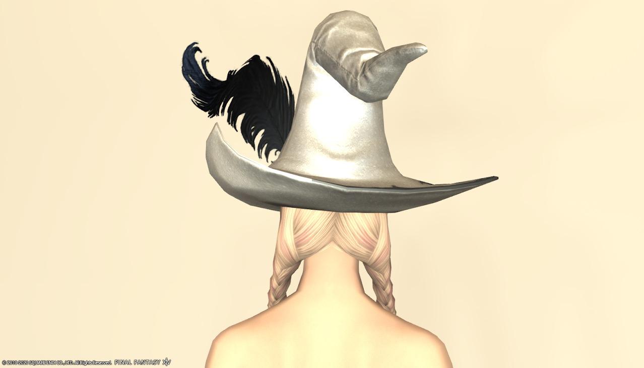 アイディアルウィッケ頭パールホワイト背面