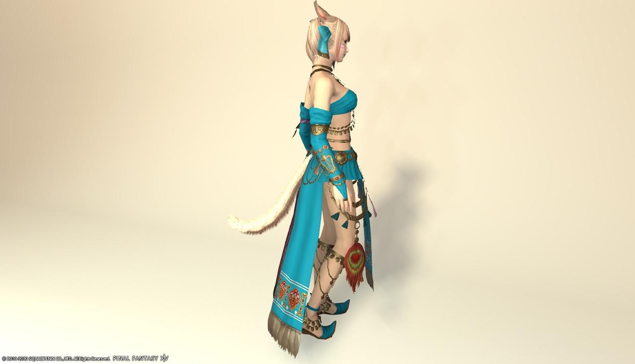 アイディアルダンサー装備全身ターコイズブルーサイド