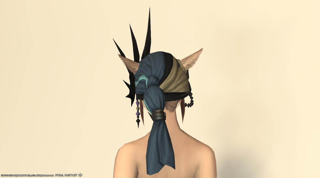 サリャクキャスター装備頭背面