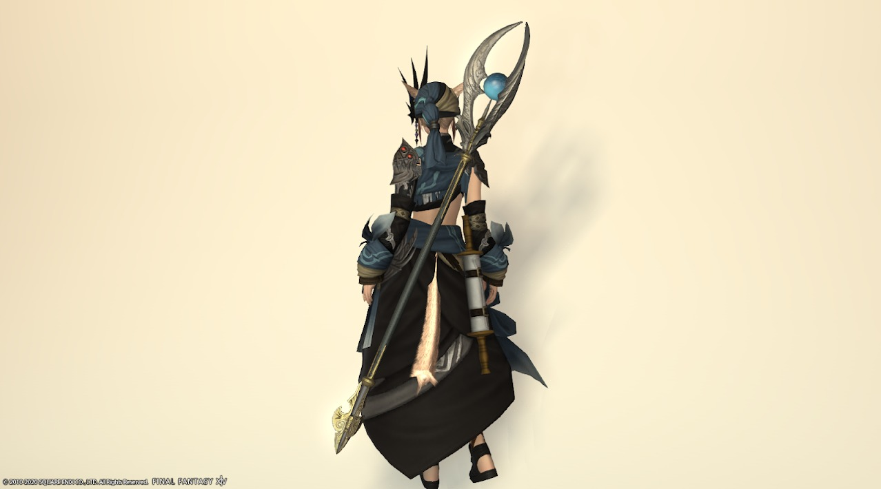 サリャクキャスター装備黒武器合わせ納刀