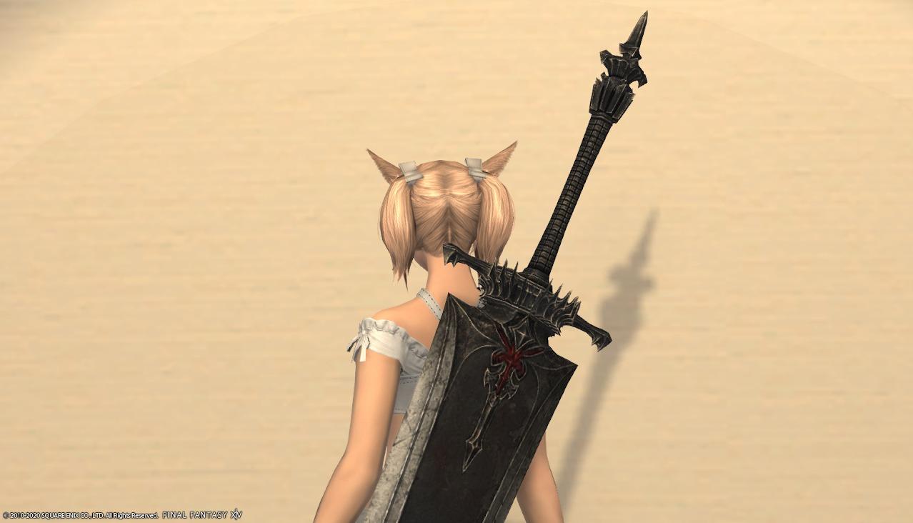暗黒騎士AF4武器納刀上部アップ