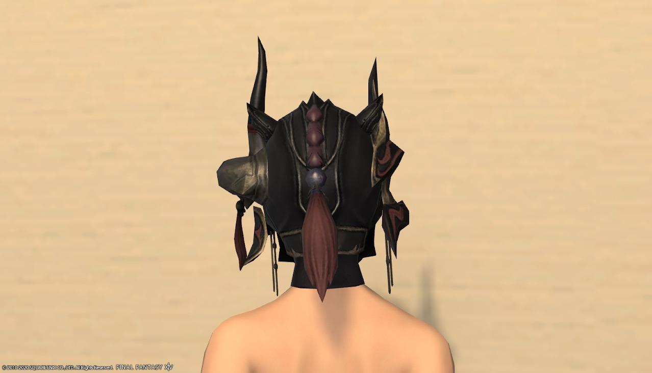 暗黒騎士AF4頭背面