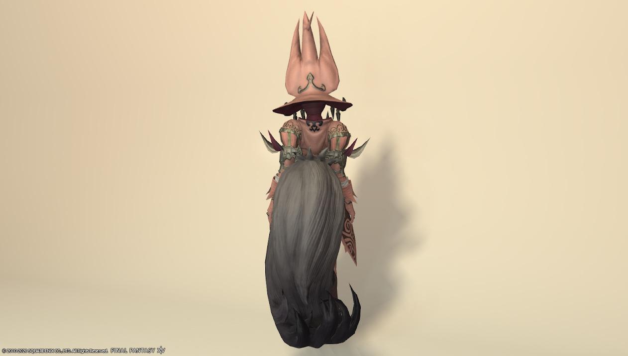 ウルフリージュ全身ローズピンク背面