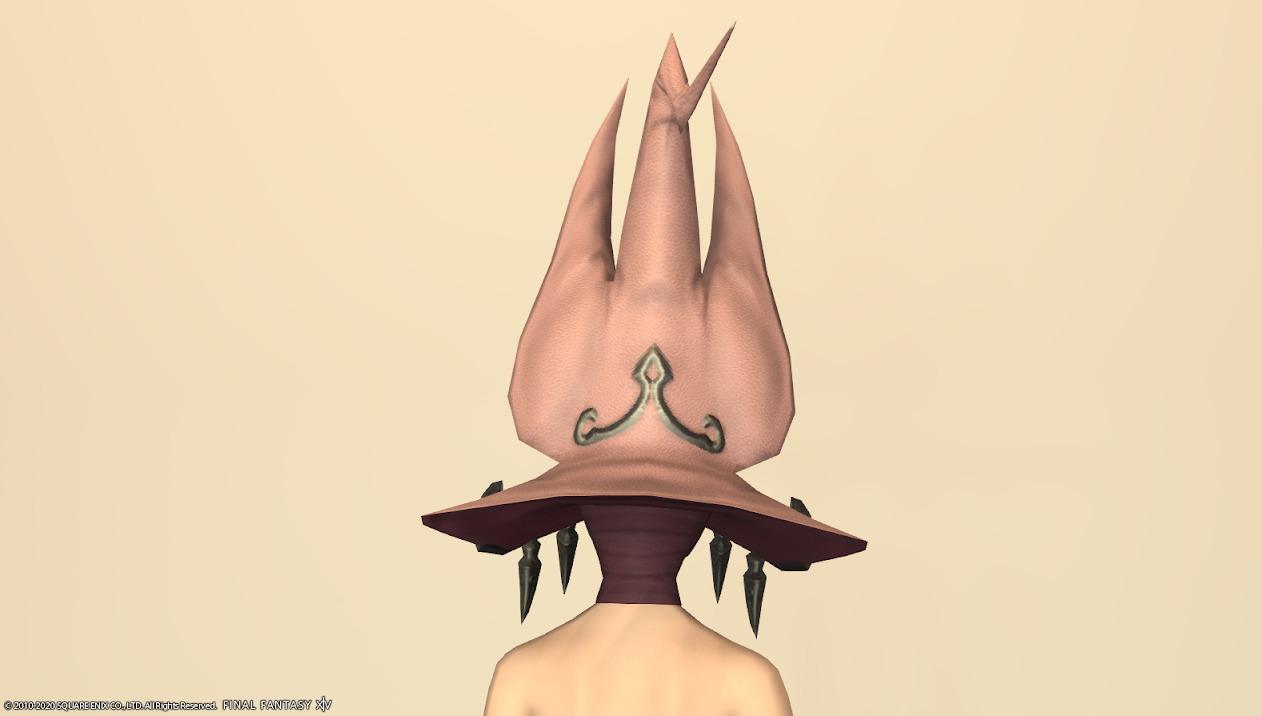 ウルフリージュ頭ローズピンク背面