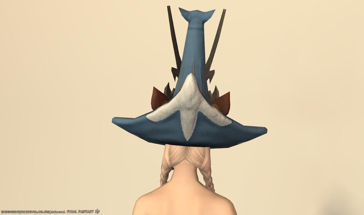 エルクテイル頭シーフォグブルー背面