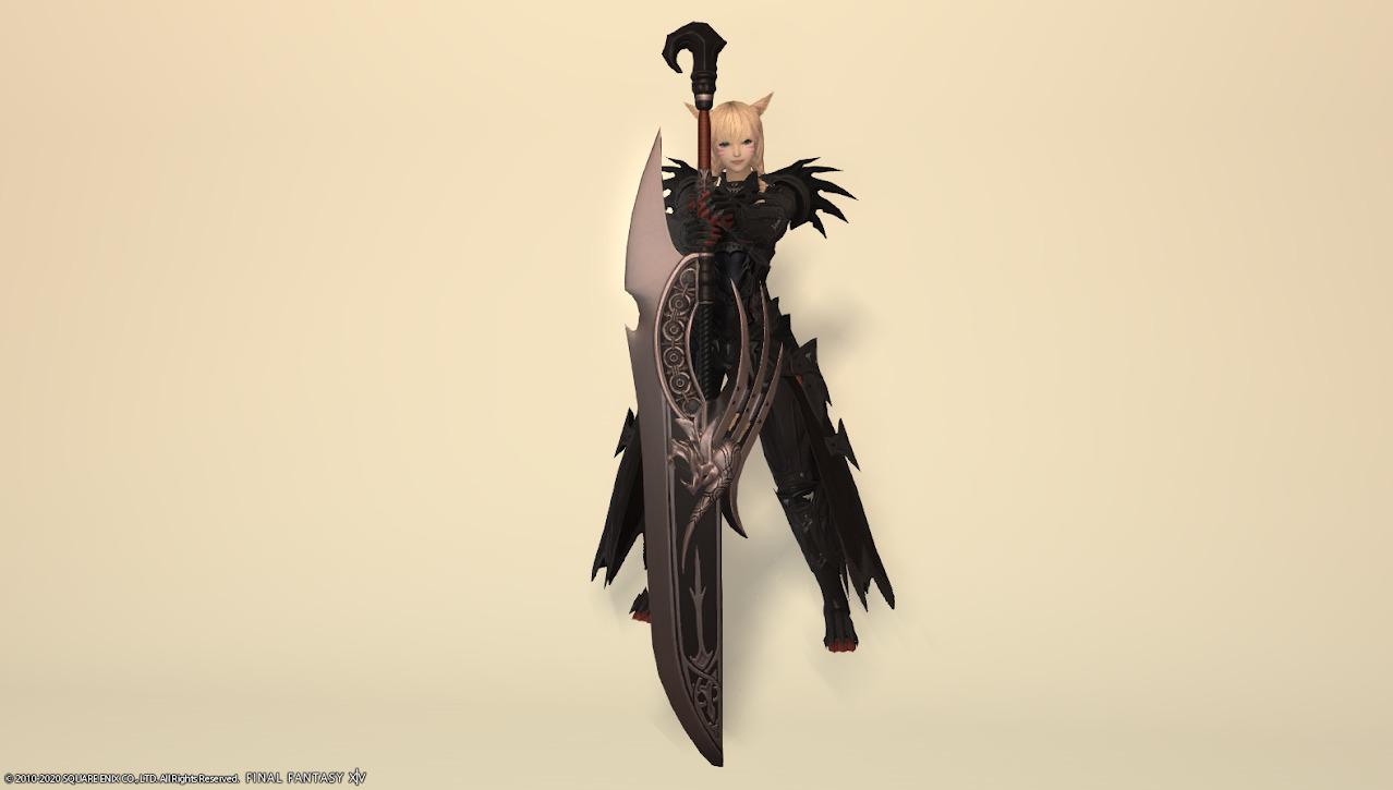 キングベヒーモス装備暗黒騎士武器合わせ抜刀ポーズ