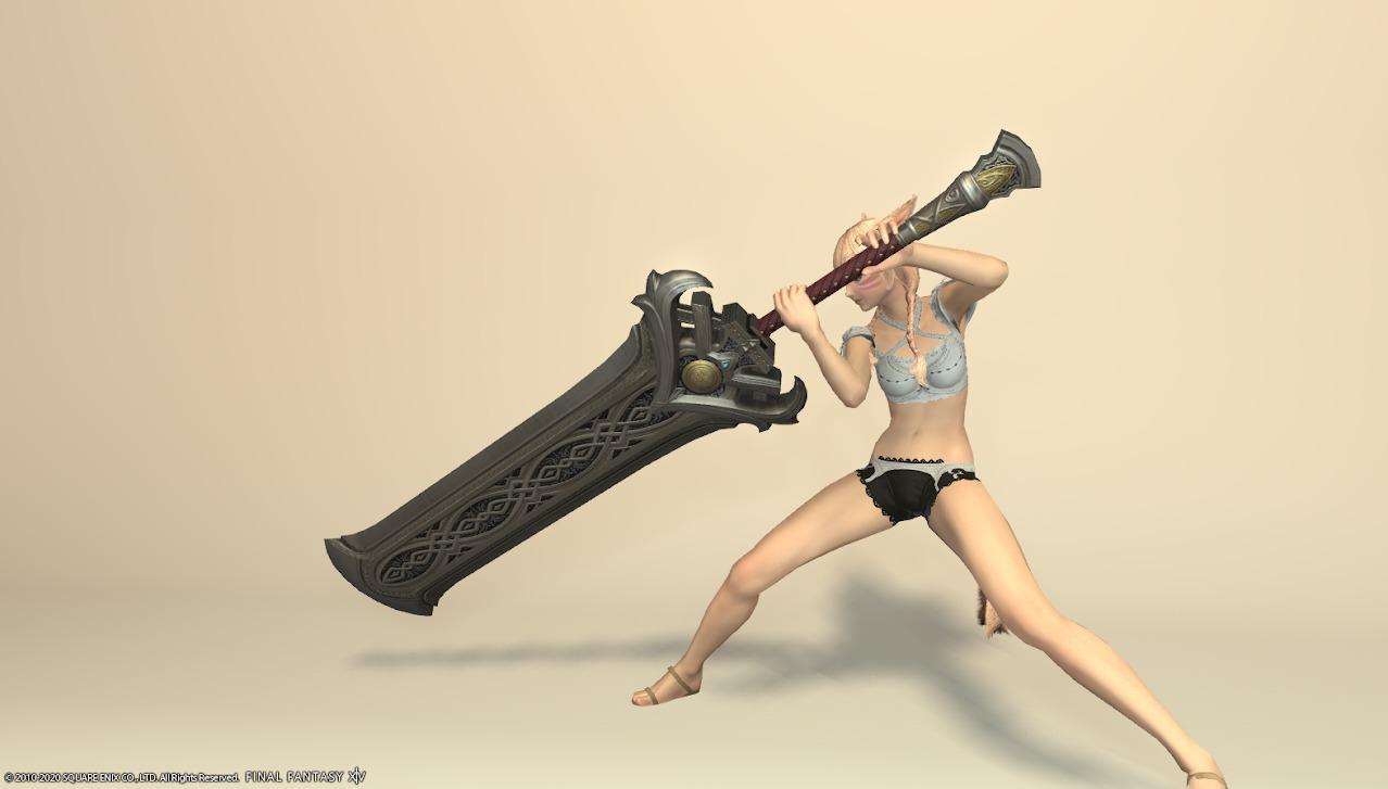 ハルオーネディフェ暗黒騎士武器抜刀
