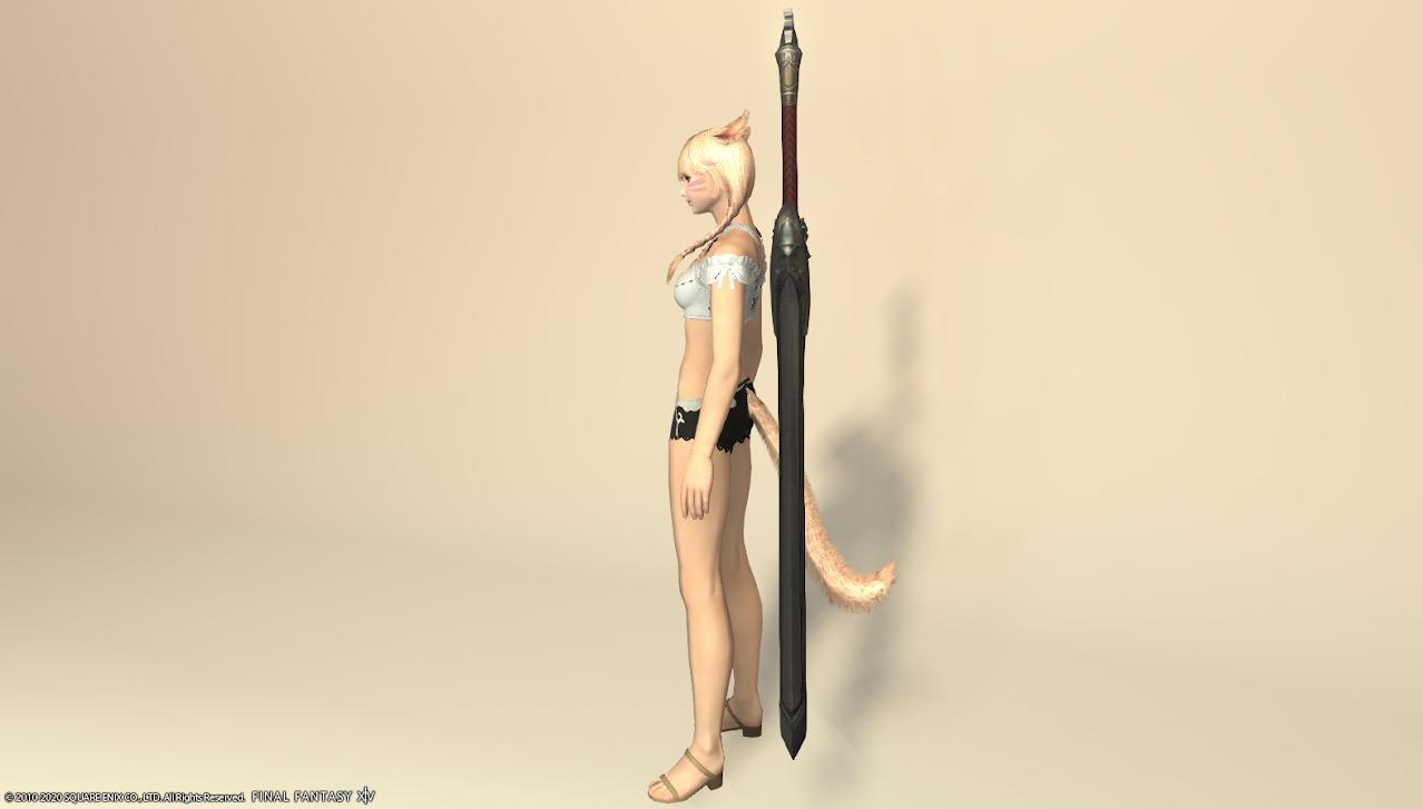 ハルオーネディフェ暗黒騎士武器納刀サイド
