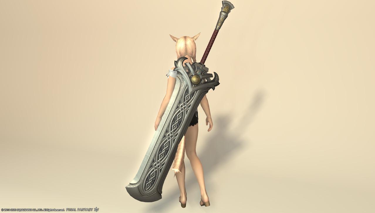 ハルオーネディフェ暗黒騎士武器納刀