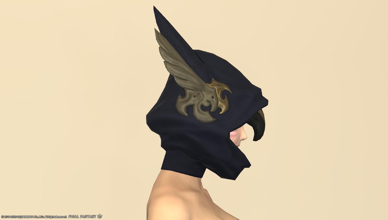 ブラックグリフィン頭サイド