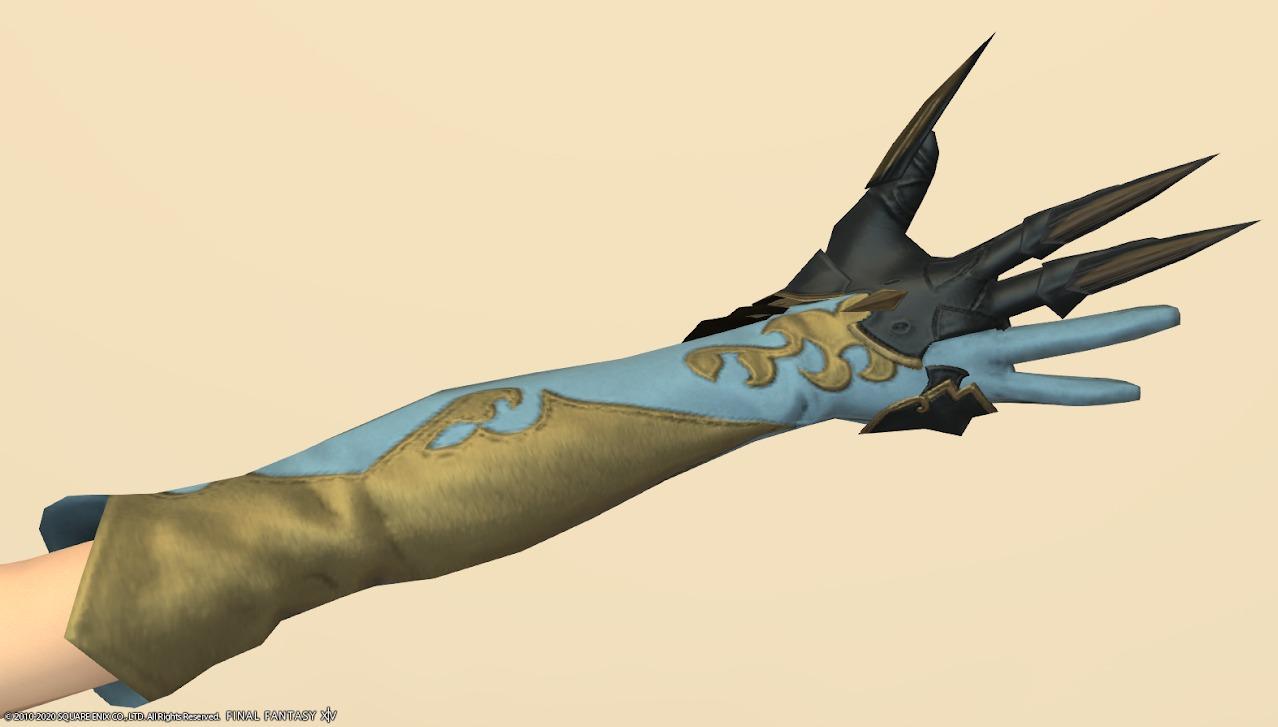 ホワイトグリフィン装備手スカイブルー