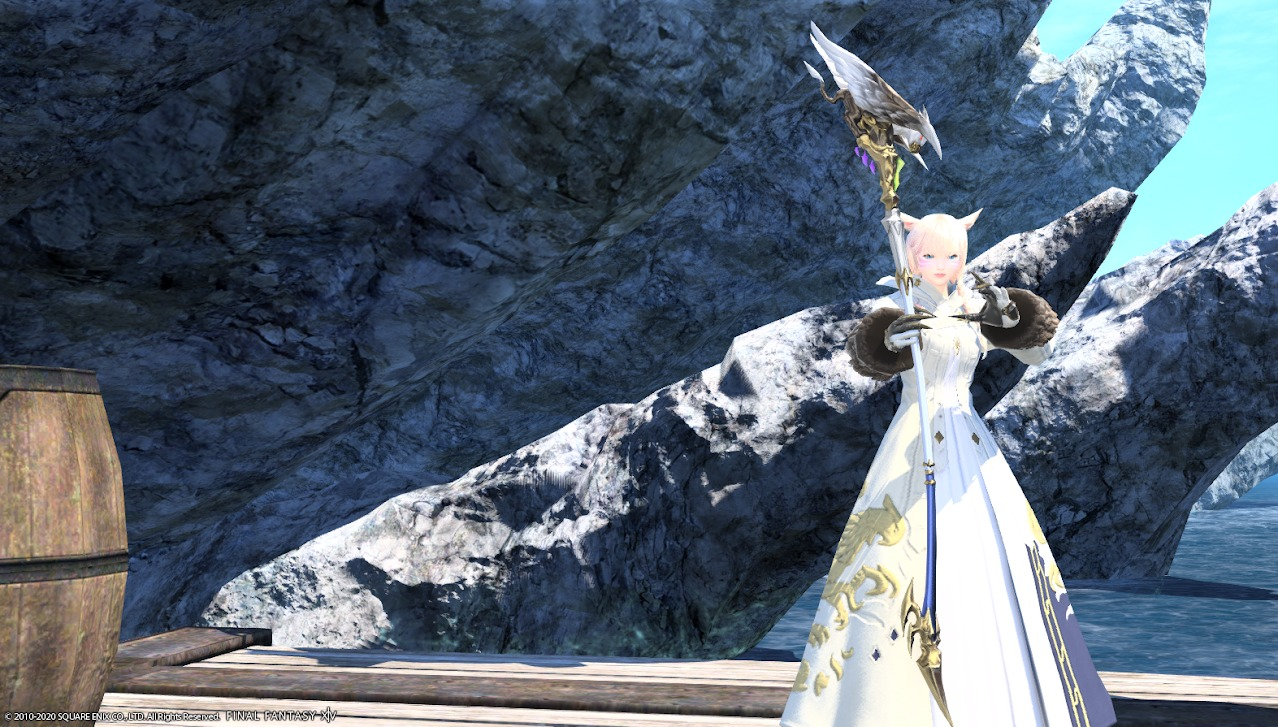ホワイトグリフィン装備白魔道士武器