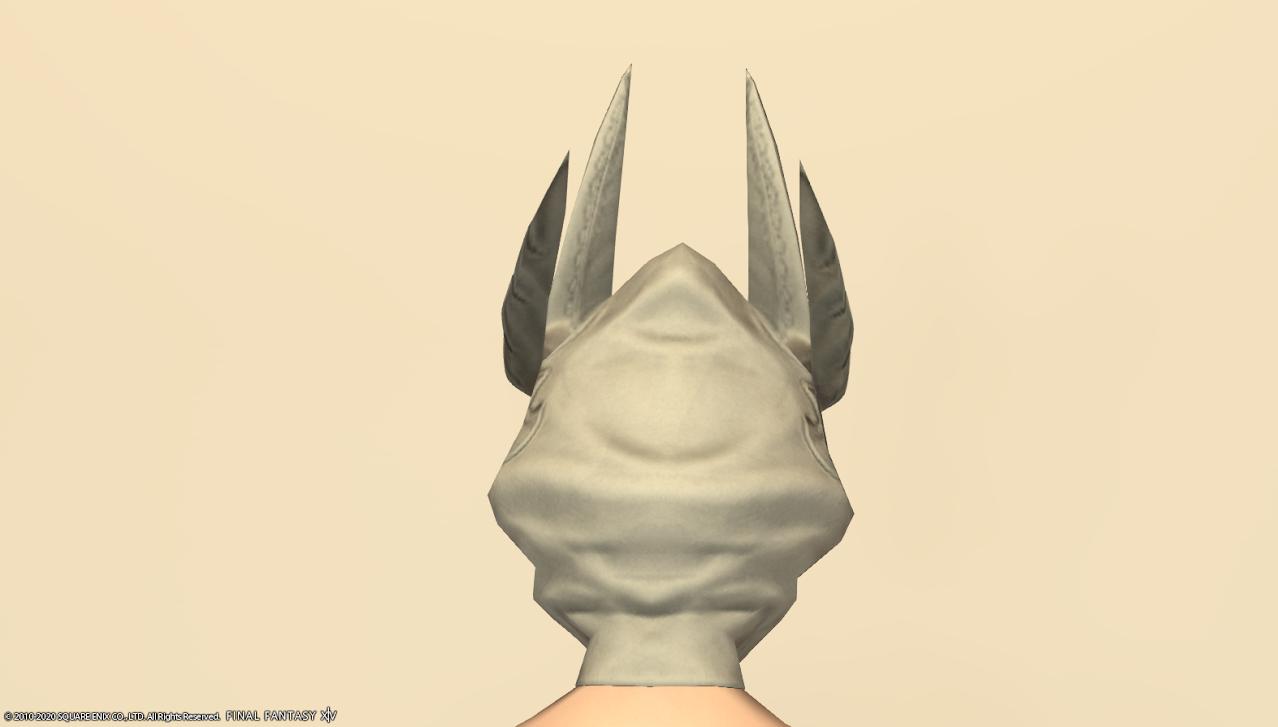 ホワイトグリフィン装備頭背面