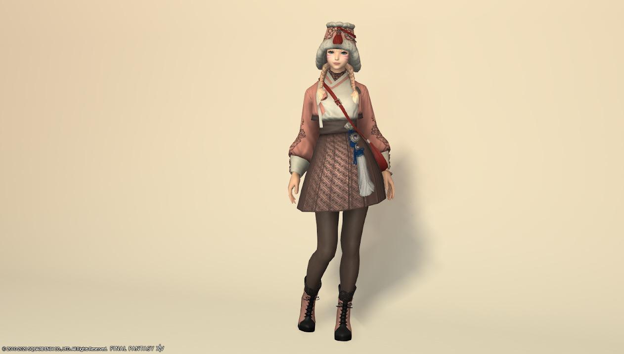 東方美姫衣装セット全身ローズピンク